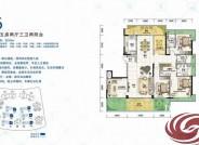 珠海格力海岸格力海岸 风帆洋房E6户型206平米五房两厅 206㎡